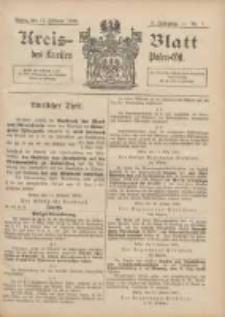 Kreis-Blatt des Kreises Posen-Ost 1896.02.15 Jg.9 Nr7
