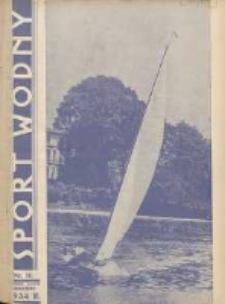 Sport Wodny: dwutygodnik poświęcony sprawom wioślarstwa, żeglarstwa, pływactwa, turystyki wodnej i jachtingu motorowego 1934.08 R.10 Nr14