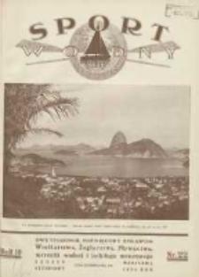 Sport Wodny: dwutygodnik poświęcony sprawom wioślarstwa, żeglarstwa, pływactwa, turystyki wodnej i jachtingu motorowego 1934.12 R.10 Nr22