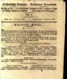 Oeffentlicher Anzeiger. 1829.01.06 Nro.1