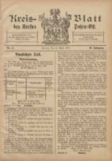 Kreis-Blatt des Kreises Posen-Ost 1908.04.25 Jg.20 Nr17