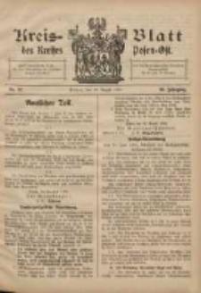 Kreis-Blatt des Kreises Posen-Ost 1908.08.29 Jg.20 Nr37