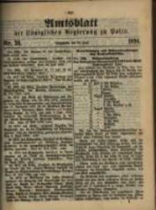Amtsblatt der Königlichen Regierung zu Posen. 1894.06.26 Nro.26