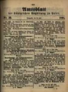 Amtsblatt der Königlichen Regierung zu Posen. 1894.07.24 Nro.30