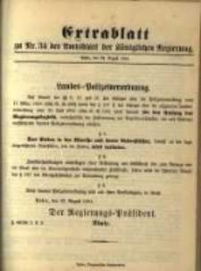 Extrablatt zu Nr. 34 des Amtsblatt der Königlichen Regierung. Posen, den 24. August 1894