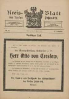 Kreis-Blatt des Kreises Posen-Ost 1910.04.09 Jg.22 Nr15
