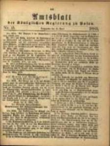 Amtsblatt der Königlichen Regierung zu Posen. 1883.04.10 Nro.15