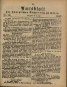 Amtsblatt der Königlichen Regierung zu Posen. 1883.05.15 Nro.20