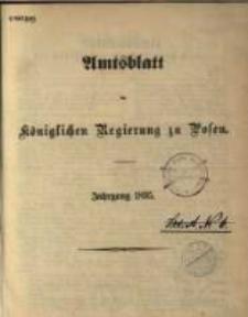 Amtsblatt der Königlichen Regierung zu Posen. 1895.01.01 Nro.1
