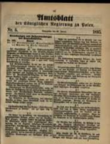 Amtsblatt der Königlichen Regierung zu Posen. 1895.01.29 Nro.5