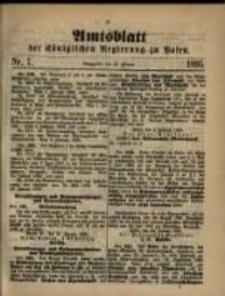 Amtsblatt der Königlichen Regierung zu Posen. 1895.02.12 Nro.7