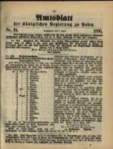 Amtsblatt der Königlichen Regierung zu Posen. 1895.04.09 Nro.15