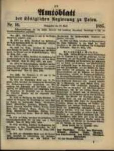 Amtsblatt der Königlichen Regierung zu Posen. 1895.04.16 Nro.16