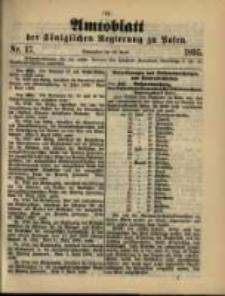 Amtsblatt der Königlichen Regierung zu Posen. 1895.04.23 Nro.17