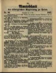 Amtsblatt der Königlichen Regierung zu Posen. 1895.05.14 Nro.20
