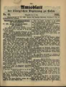 Amtsblatt der Königlichen Regierung zu Posen. 1895.05.21 Nro.21