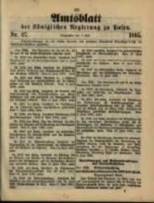Amtsblatt der Königlichen Regierung zu Posen. 1895.07.02 Nro.27