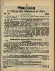 Amtsblatt der Königlichen Regierung zu Posen. 1895.07.09 Nro.28