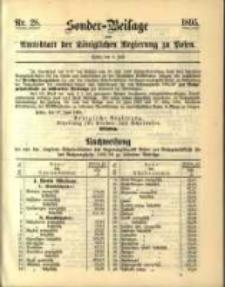 Sonder- Beilage zum Amtsblatt der Königlichen Regierung zu Posen