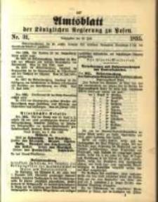 Amtsblatt der Königlichen Regierung zu Posen. 1895.07.30 Nro.31