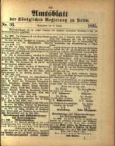 Amtsblatt der Königlichen Regierung zu Posen. 1895.08.13 Nro.33
