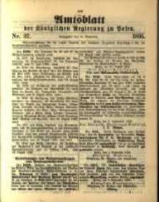 Amtsblatt der Königlichen Regierung zu Posen. 1895.09.10 Nro.37