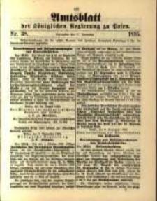 Amtsblatt der Königlichen Regierung zu Posen. 1895.09.17 Nro.38