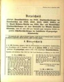 Verzeichniss … vom 3. September 1895...zum 1. Januar 1896
