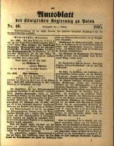 Amtsblatt der Königlichen Regierung zu Posen. 1895.10.01 Nro.40