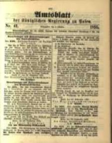 Amtsblatt der Königlichen Regierung zu Posen. 1895.10.08 Nro.41