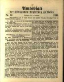 Amtsblatt der Königlichen Regierung zu Posen. 1895.11.19 Nro.47