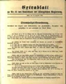 Extrablatt zu Nr. 51 des Amtsblatt der Königlichen Regierung. Posen, den 19. December 1895