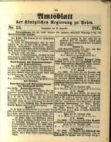 Amtsblatt der Königlichen Regierung zu Posen. 1895.12.31 Nro.53