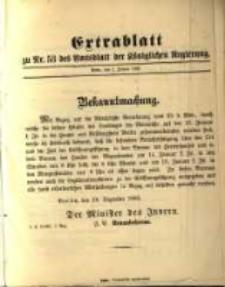 Extrablatt zu Nr. 53 des Amtsblatt der Königlichen Regierung. Posen, den 2. Januar 1896