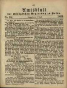 Amtsblatt der Königlichen Regierung zu Posen. 1883.08.07 Nro.32