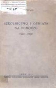Szkolnictwo i oświata na Pomorzu 1920-1930