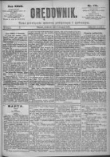 Orędownik: pismo dla spraw politycznych i spółecznych 1897.08.08 R.27 Nr179