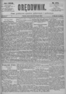Orędownik: pismo dla spraw politycznych i spółecznych 1897.11.26 R.27 Nr270