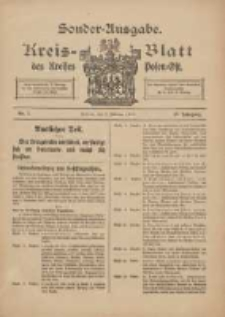 Kreis-Blatt des Kreises Posen-Ost 1915.02.03 Jg.27 Nr7 Sonder Ausgabe