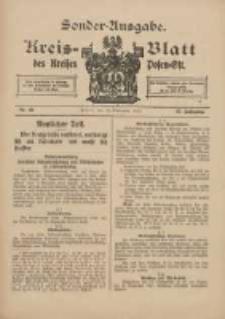 Kreis-Blatt des Kreises Posen-Ost 1915.09.15 Jg.27 Nr48 Sonder Ausgabe