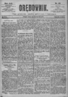 Orędownik: pismo dla spraw politycznych i spółecznych 1899.01.28 R.29 Nr23