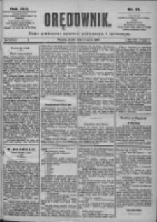 Orędownik: pismo dla spraw politycznych i spółecznych 1899.03.03 R.29 Nr51