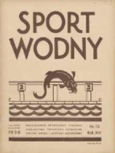 Sport Wodny: dwutygodnik poświęcony sprawom wioślarstwa, żeglarstwa, pływactwa, turystyki wodnej i jachtingu motorowego 1938.08 R.14 Nr13