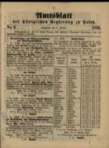 Amtsblatt der Königlichen Regierung zu Posen. 1896.02.11 Nro.6
