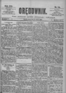 Orędownik: pismo dla spraw politycznych i spółecznych 1899.03.25 R.29 Nr70