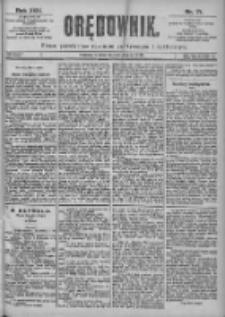 Orędownik: pismo dla spraw politycznych i spółecznych 1899.03.28 R.29 Nr71