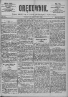 Orędownik: pismo dla spraw politycznych i spółecznych 1899.03.29 R.29 Nr72