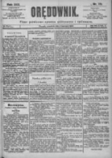 Orędownik: pismo dla spraw politycznych i spółecznych 1899.04.06 R.29 Nr78