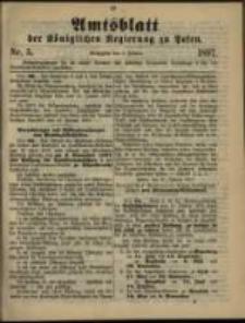 Amtsblatt der Königlichen Regierung zu Posen. 1897.02.02 Nro.5