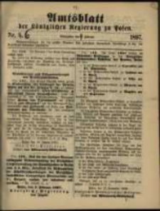 Amtsblatt der Königlichen Regierung zu Posen. 1897.02.09 Nro.6